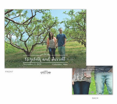 Between the Lines Save the Date Card