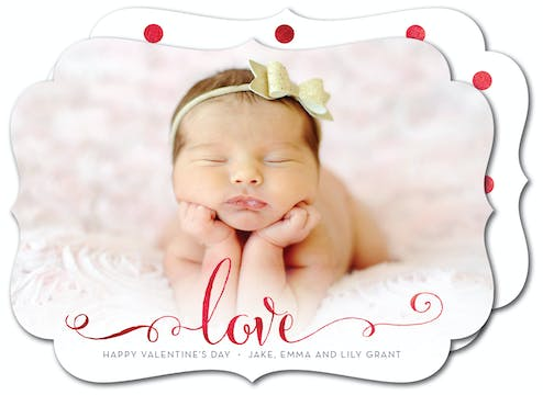 Glowing Love Valentine Photo Card