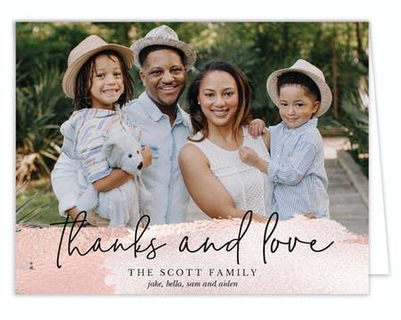 Thanks and Love Photo Folded Note
