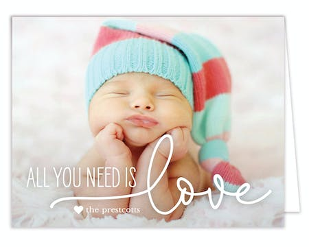 All You Need is Love Photo Folded Note