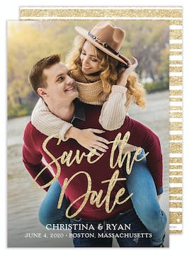 Glitter Photo Save the Date