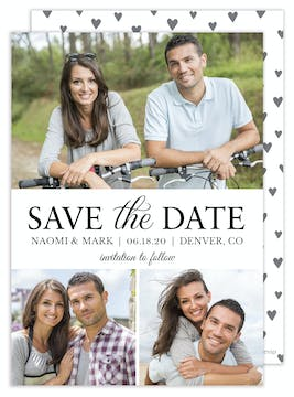 Modern Save the Date - Multi-photo