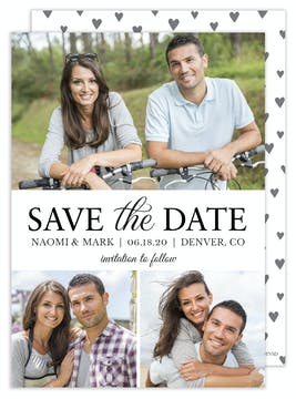 Modern Save the Date - Multi-photo
