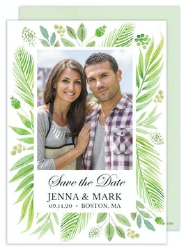 Regal Greenery Photo Save the Date