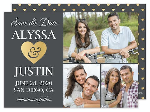 Heart Save the Date - Multi-photo