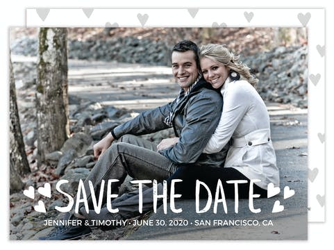 Whimsical Hearts Photo Save the Date