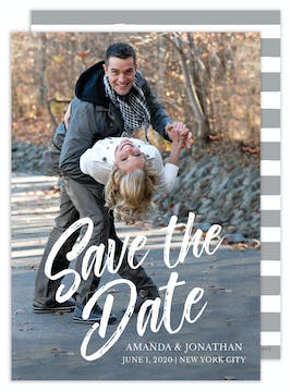 Painterly Photo Save the Date