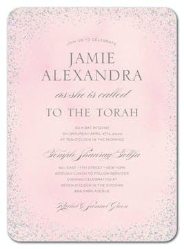 Confetti Pink Foil Pressed Invitation