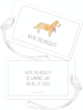 Furry Friends With Bows ID Tag - Click Personalize to Choose from Different Animals