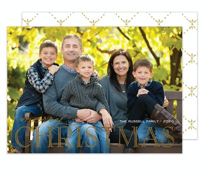 Foil Big Christmas Holiday Photo Card