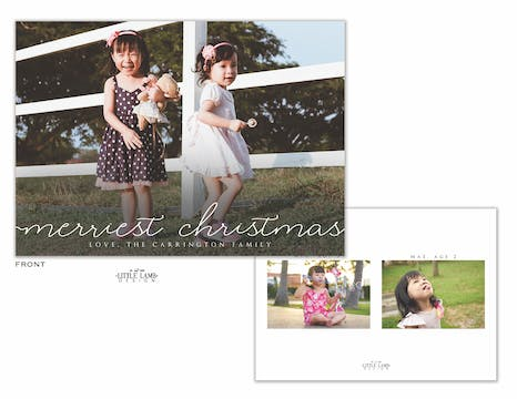 Merriest Christmas Holiday Photo Card