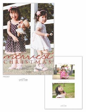 Merriest Christmas Foil Holiday Photo Card
