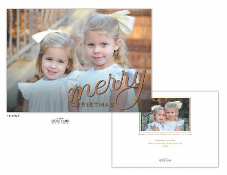 Big Merry Christmas Holiday Photo Card