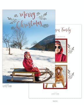 Christmas Branches Holiday Photo Card