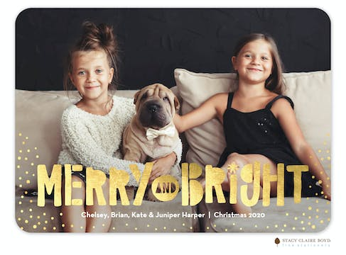 Merry and Bright Holiday FlatPhoto Card