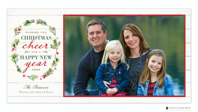 Woodland Wreath Print & Apply Holiday Photo Card