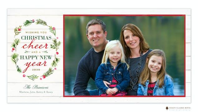Woodland Wreath Print & Apply Holiday Photo Card