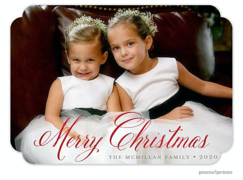Merry Christmas Foil Pressed Holiday Photo Card