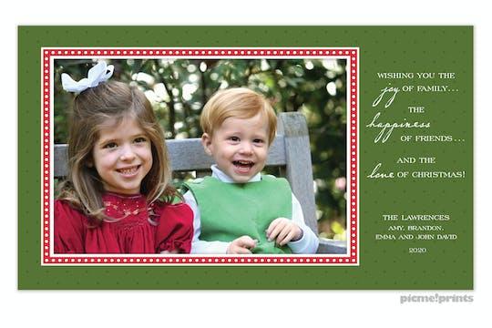 Christmas dots & more dots evergreen Holiday Flat Photo Card-Print & Apply