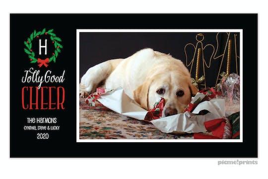 Jolly Good Cheer Holiday Print & Apply Flat Photo Card