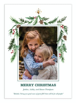 Cone Garland Digital Photo Card