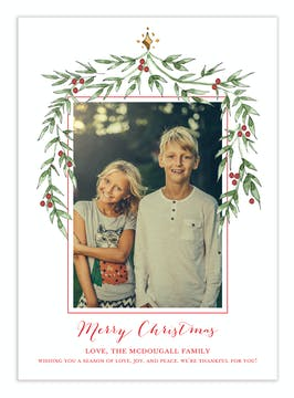 Top Garland Digital Photo Card