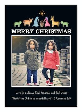 Nativity Scene Digital Photo Card