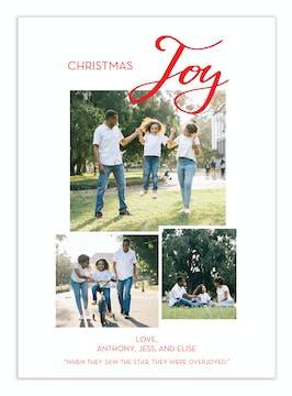 Christmas Joy Digital Photo Card