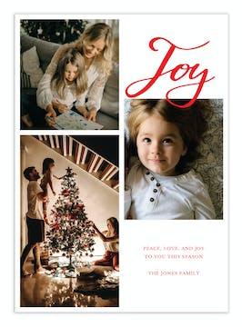 Joy Script Digital Photo Card