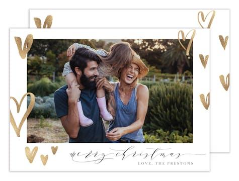 Hearts Aglow Holiday Photo Card