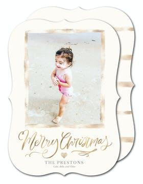 Brushed Frame Holiday Photo Card