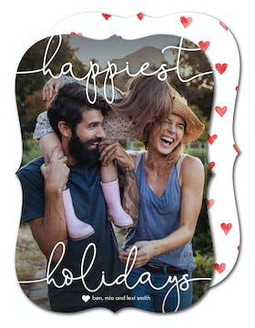 Happiest Holidays Holiday Photo Card