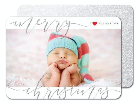 Sparkling Christmas Holiday Photo Card