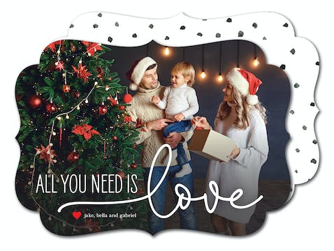 All You Need Is Love Holiday Photo Card
