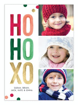 HO HO XO Digital Photo Card