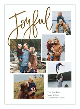 Just Joyful Foil Pressed Digital Photo Card