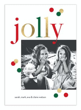 Jolly Dots Digital Photo Card
