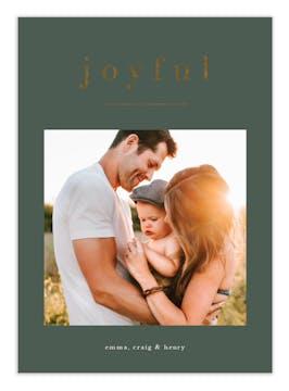 Just One Word Foil Pressed Digital Photo Card
