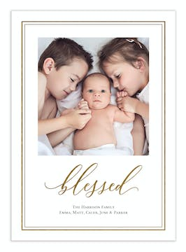Blissfully Blessed Foil Pressed Digital Photo Card