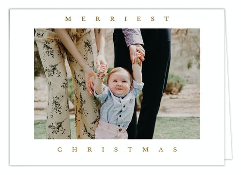 Merriment Foil Pressed Digital Photo Card