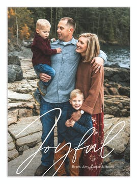 Simply Joyful Digital Photo Card