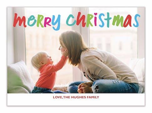 Bright Colors Christmas Holiday Photo Card