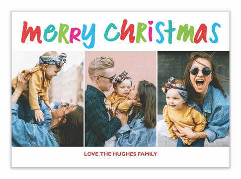 Bright Colors Christmas (multi-photo) Holiday Photo Card