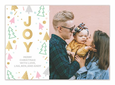 Sweet Joy Holiday Photo Card