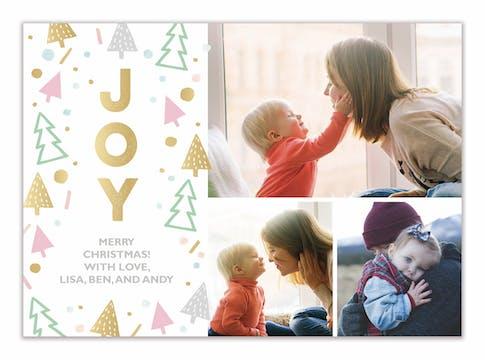 Sweet Joy (multi-photo) Holiday Photo Card
