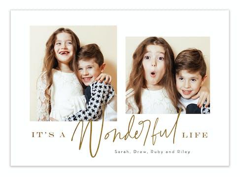 Life Shines Foil Pressed Digital Photo Card