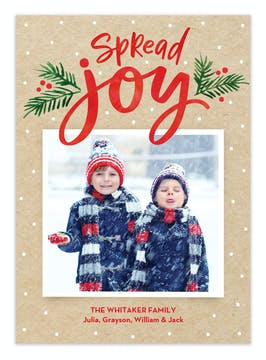 A Joyful Season Digital Photo Card