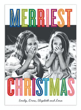 Christmas Colors Digital Photo Card