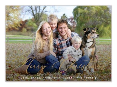 Christmas Splendor Foil Pressed Holiday Photo Card
