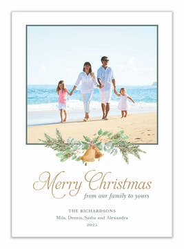 Christmas Bells Holiday Photo Card